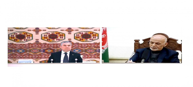 Президенты Туркменистана и Афганистана приняли участие в церемонии ввода в строй ряда совместных инфраструктурных объектов