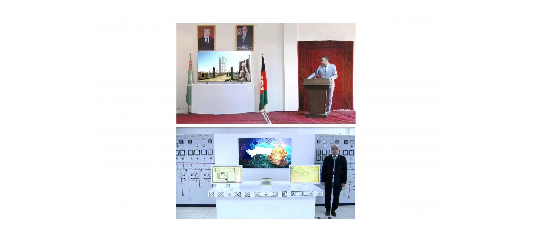 В торжественной обстановке введена в строй линия электропередачи по направлению Керки (Туркменистан) – Шиберган (Афганистан)